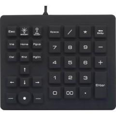 USB Tastierino numerico A prova di schizzi, A prova di polvere, Pulsanti a sfioramento Nero