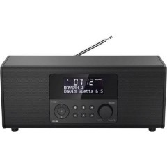 DR1400 Radio da tavolo DAB+, FM Nero