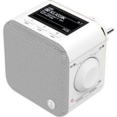 DR40BT-PlugIn Radio a spina DAB+ AUX, Bluetooth Bianco