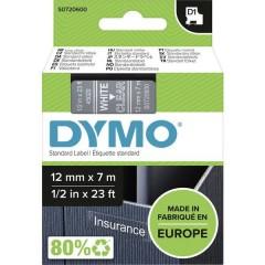 Cassetta nastro D1 45020 Colore Nastro: Trasparente Colore carattere:Bianco 12 mm 7 m