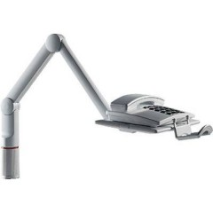 TalkMaster Braccio portatelefono orientabile Inclinabile, Girevole Grigio luminescente 1 pz.