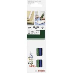 Stick colla a caldo 7 mm 150 mm Assortito vari colori (glitter) 60 g 10 pz.