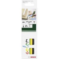 Stick colla a caldo 7 mm 150 mm Assortito vari colori 60 g 10 pz.