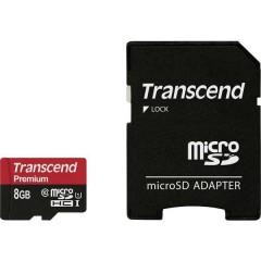 Premium Scheda microSDHC 8 GB Class 10, UHS-I incl. Adattatore SD