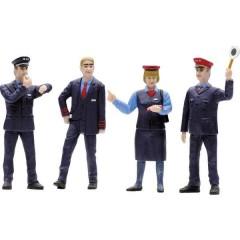 G kit 4 pz. Personale ferroviario personaggi di SBB