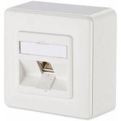 Presa di rete Da parete CAT 6 1 Porta Bianco puro
