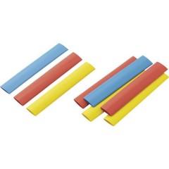 Kit guaine termoretraibili Colorato 12.50 mm Restringimento:2:1 9 pz.