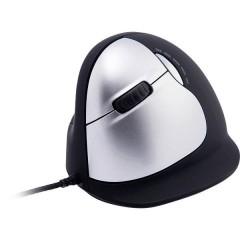 HE () Cablato Mouse ergonomico Ergonomico, Rotella di scorrimento integrata, Porta USB Nero /