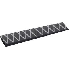 Termoretraibile senza colla Nero 36 mm Restringimento:2:1 1 m
