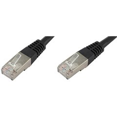 RJ45 Cavo di rete, cavo patch CAT 6 S/FTP 20.00 m Nero Schermato a coppie