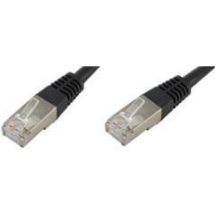 RJ45 Cavo di rete, cavo patch CAT 6 S/FTP 5.00 m Nero Schermato a coppie