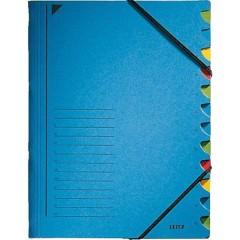 Cartellina con divisori Blu DIN A4 Numero scomparti: 12