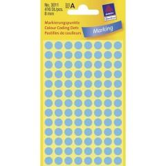 Etichetta di identificazione a forma di bollino Ø 8 mm Blu 416 pz. Permanente Carta