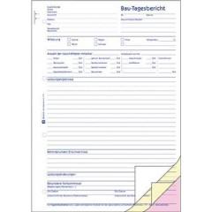 Modulo di relazione di costruzione DIN A4 Numero di fogli: 40