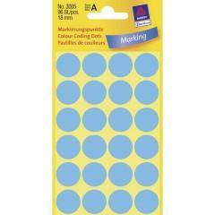 Etichette Ø 18 mm Carta Blu 96 pz. Permanente Etichetta di identificazione a forma di bollino