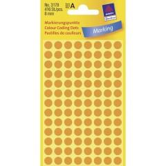 Etichetta di identificazione a forma di bollino Ø 8 mm Arancione fluorescente 416 pz. Permanente
