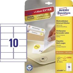 Etichette 96 x 50.8 mm Carta Bianco 300 pz. Staccabile Etichetta universale Inchiostro,