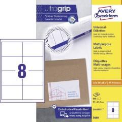 Etichette 97 x 67.7 mm Carta Bianco 800 pz. Permanente Etichetta universale Inchiostro, Laser,