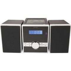 Denver MCA-230MK2 Sistema stereo AUX, CD, FM, Nero, Argento
