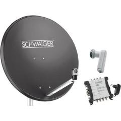 Schwaiger SPI9961SET6 Sistema SAT senza ricevitore Numero utenti: 8 80 cm
