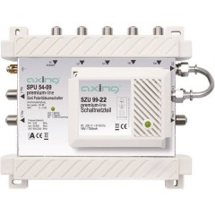 Axing SPU 54-09 SAT multiswitch Ingressi (Multiswitch): 5 (4 satellitare / 1 terrestre) Numero utenti: 4 Funzione