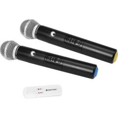 Omnitronic UWM-2HH USB Kit microfono senza fili Senza fili Interruttore
