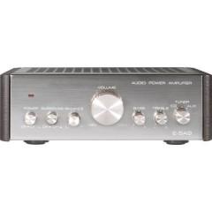 Renkforce E-SA9 Amplificatore Stereo 2 x 12 W Argento (Metallizzato), Marrone scuro
