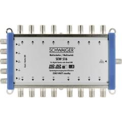Schwaiger SEW516 531 SAT multiswitch Ingressi (Multiswitch): 5 (4 satellitare / 1 terrestre) Numero utenti: 16 Funzione
