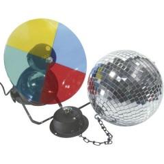 50101855 Lampadina Alogena KIT palla a specchi con motore, con ruota cambiacolori 20 cm