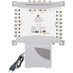 Triax TMS 916 SE P-EU SAT multiswitch Ingressi (Multiswitch): 9 (8 satellitare / 1 terrestre) Numero utenti: 16