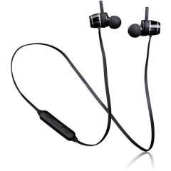 Lenco EPB-030BK Bluetooth Sport Cuffie auricolari Auricolare In Ear headset con microfono, Resistente al sudore Nero