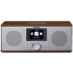 Lenco DIR-170 Radio Internet da tavolo DAB+, FM AUX, Bluetooth, USB, Internetradio Noce
