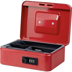 Cassetta portavalori (L x A x P) 200 x 90 x 160 mm Rosso