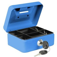 Cassetta portavalori (L x A x P) 125 x 60 x 95 mm Blu
