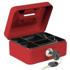 Cassetta portavalori (L x A x P) 125 x 60 x 95 mm Rosso