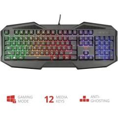GXT830RW AVONN Cablato Tastiera da gioco Illuminato, con tastierino numerico, pulsanti multimedia Tedesco, QWERTZ