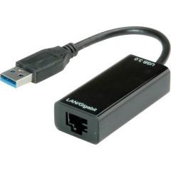 USB 2.0 Convertitore [1x Spina A USB 3.2 Gen 1 (USB 3.0) - 1x Presa RJ45]