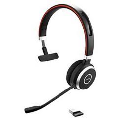 Evolve 65 UC Cuffia telefonica USB Senza filo, Mono Cuffia On Ear Nero, Argento