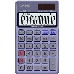 Casio Calcolatrice tascabile Blu Display (cifre): 12 a energia solare, a batteria (L x A x P) 70 x 118.5 x 8