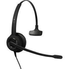 plusonic 6337-10.1P Cuffia Softphone USB Mono, Filo Cuffia On Ear Nero