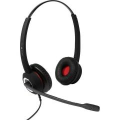 plusonic 6337-10.2P Cuffia Softphone USB Stereo, Filo Cuffia On Ear Nero