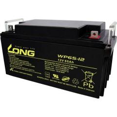 Long Batteria al piombo 12 V 65 Ah Piombo-AGM (L x A x P) 350 x 174 x 166 mm Vite M6 certificazione VDS,