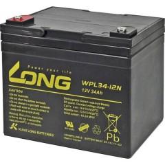 Long Batteria al piombo 12 V 34 Ah Piombo-AGM (L x A x P) 197 x 170 x 131 mm Vite M5 Bassa