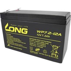 Long Batteria al piombo 12 V 7.2 Ah Piombo-AGM (L x A x P) 151 x 102 x 65 mm Spina piatta 6,35