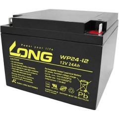 Long Batteria al piombo 12 V 24 Ah Piombo-AGM (L x A x P) 166 x 125 x 175 mm Vite M5 certificazione VDS,