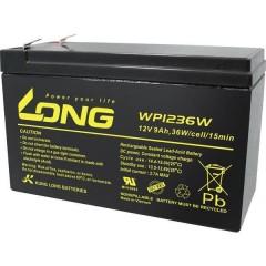 Long Batteria al piombo 12 V 9 Ah Piombo-AGM (L x A x P) 151 x 102 x 65 mm Spina piatta 6,35 mm Bassa