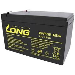 Long Batteria al piombo 12 V 12 Ah Piombo-AGM (L x A x P) 151 x 98 x 98 mm Spina piatta 6,35 mm