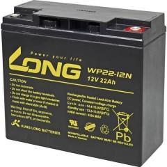 Long Batteria al piombo 12 V 22 Ah Piombo-AGM (L x A x P) 181 x 167 x 76 mm Vite M6 Bassa autoscarica,