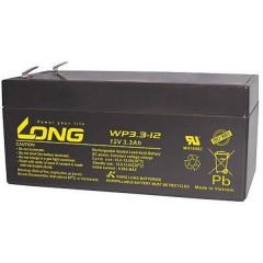 Long Batteria al piombo 12 V 3.3 Ah Piombo-AGM (L x A x P) 134 x 65.5 x 67 mm Spina piatta 4,8 mm