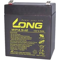 Long Batteria al piombo 12 V 4.5 Ah Piombo-AGM (L x A x P) 90 x 107 x 70 mm Spina piatta 4,8 mm Bassa